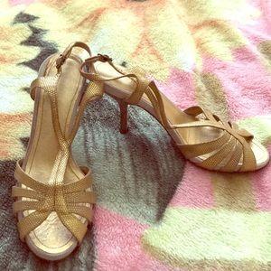 Gold BCBG Sandals